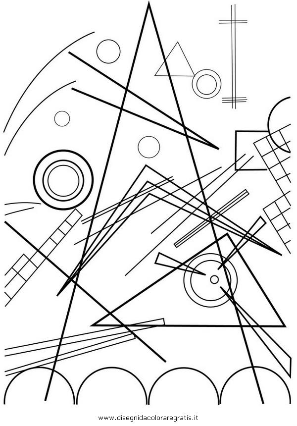 Disegno Kandinsky 01 misti da colorare