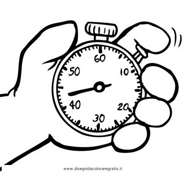 Disegno cronometro_4 misti da colorare