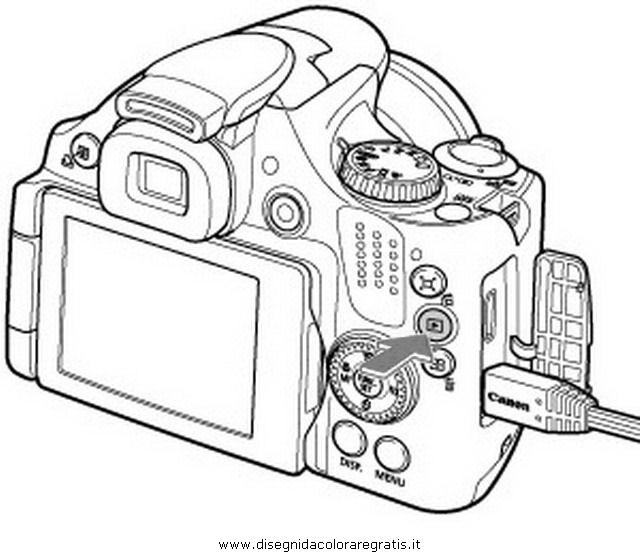 Disegno fotocamera_01 misti da colorare
