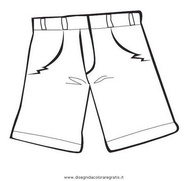 Disegno short_boxer_pantaloni: misti da colorare