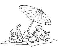 Disegno estate_spiaggia_5 categoria natura da colorare
