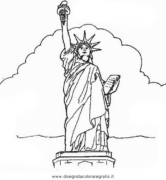 Disegno statua_liberta_4 categoria nazioni da colorare
