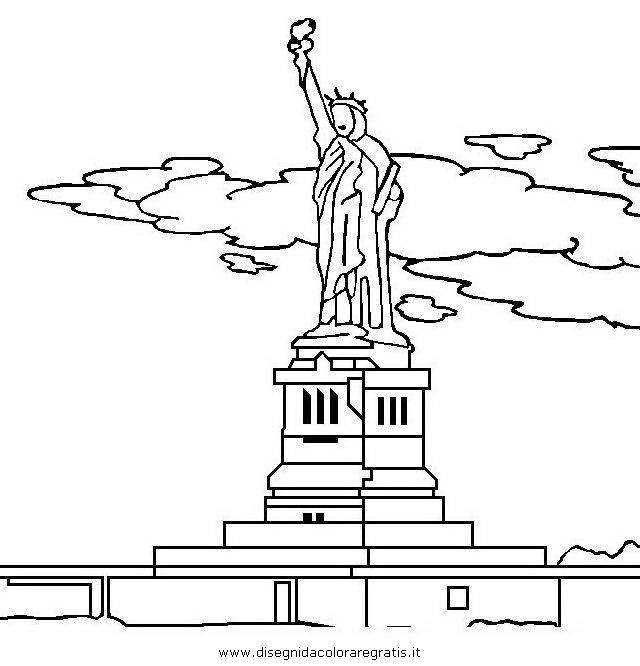 Disegno statua_liberta_5 categoria nazioni da colorare