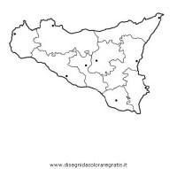 Disegno sicilia categoria nazioni da colorare