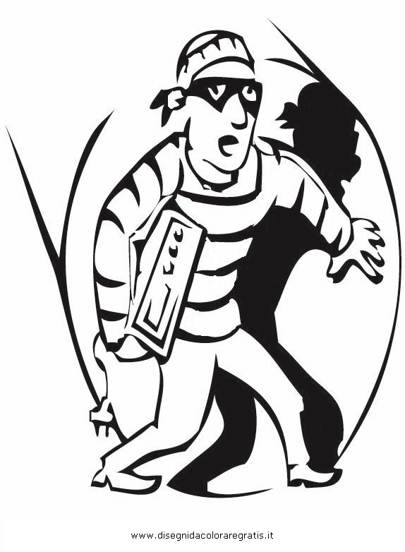 Thief Coloring Pages Sketch Coloring Page