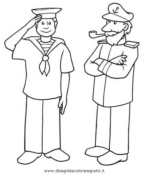 Disegno marinaio capitani categoria persone da colorare