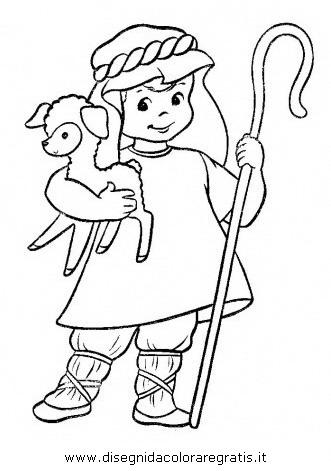 Disegno pastore_03 categoria persone da colorare