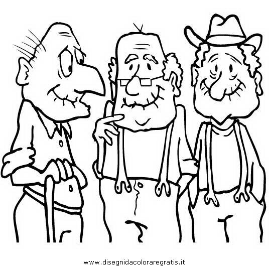 Disegno anziani categoria persone da colorare