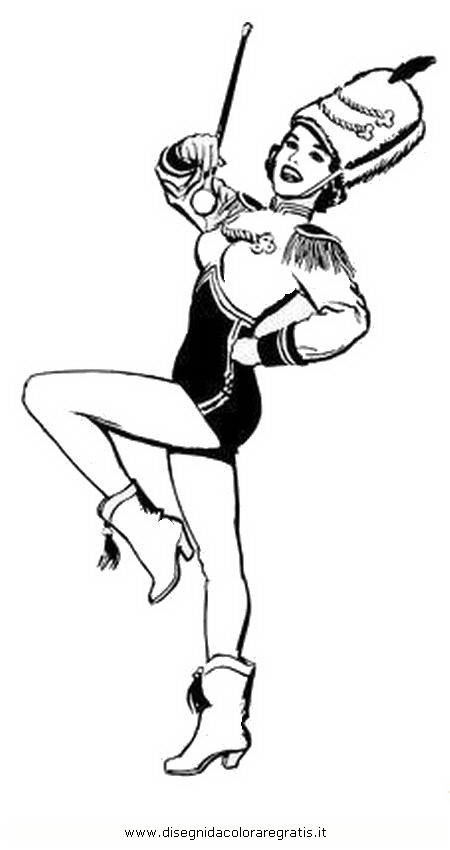 Baton Twirling Coloring Pages Coloring Pages