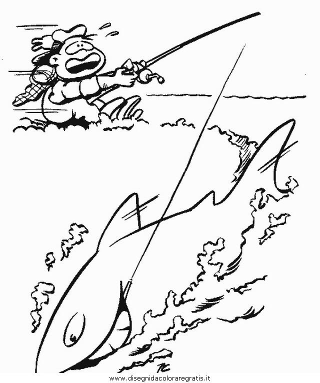Disegno Pescatore Categoria Persone Da Colorare