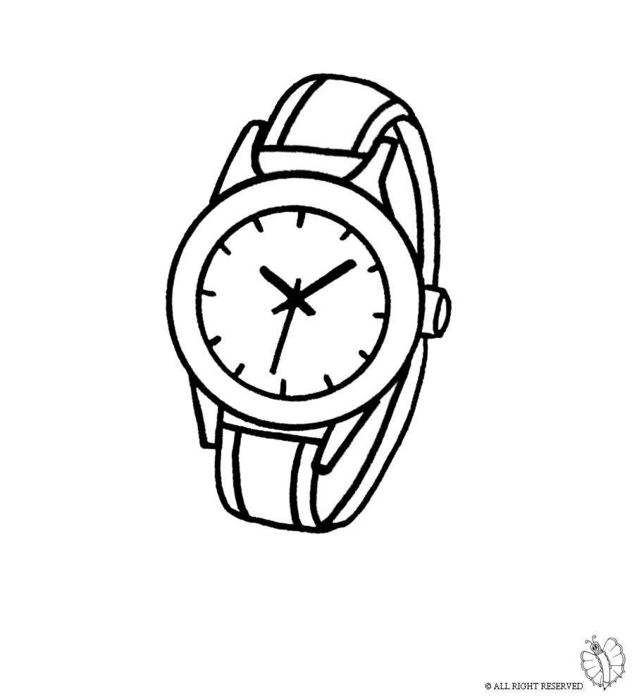 orologio a pendolo da colorare