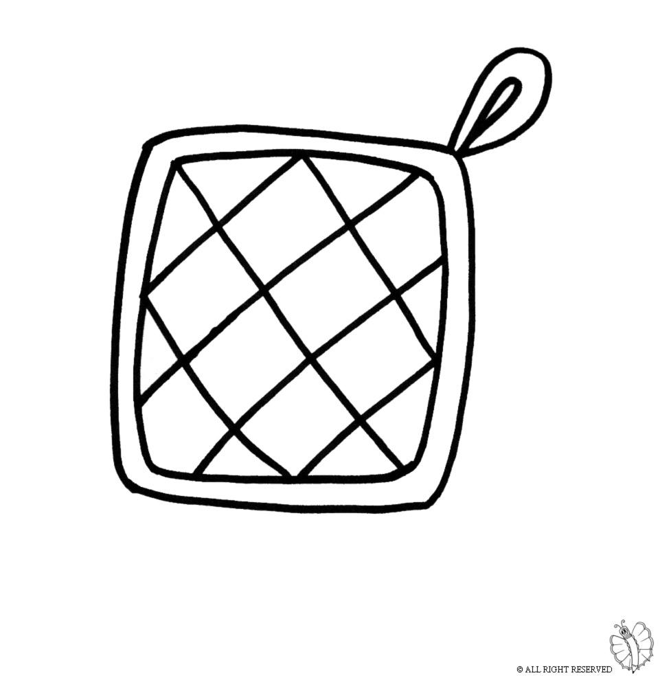 √ Disegni da colorare di oggetti per cucina