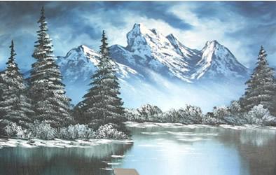 Paesaggio Invernale Acrilico