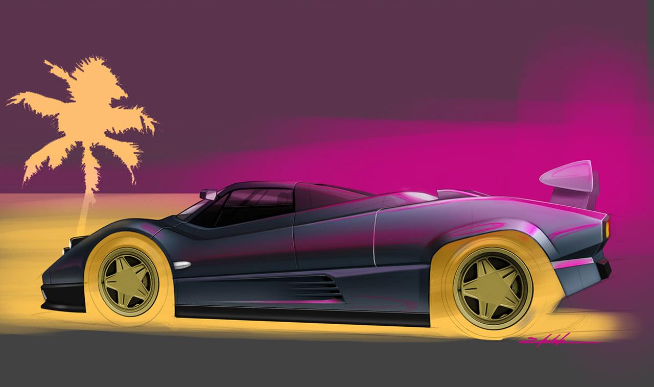 Cars Headlights Wallpaper Retro Pagani Zonda 1983 Concept Concept Cars Diseno Art
