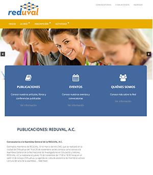 Sitio Web Reduval A.C.