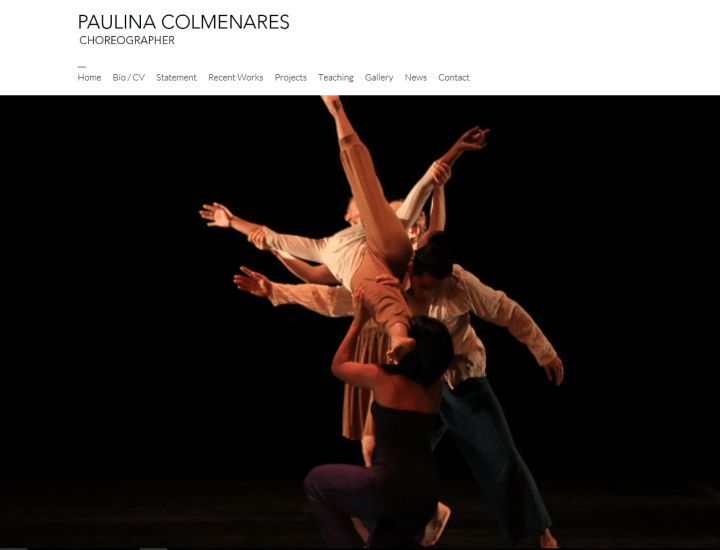 Sitio Web Paulina Colmenares