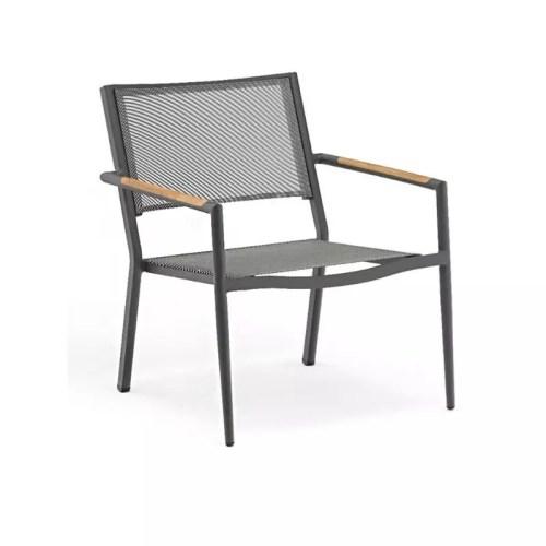 POLO ANT Occasional Chair Est. Anthracite Aluminum Textelene Teak Arm 800X800PIX