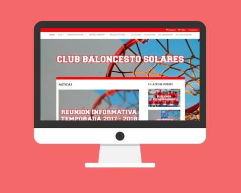 Página Web Club Baloncesto Solares