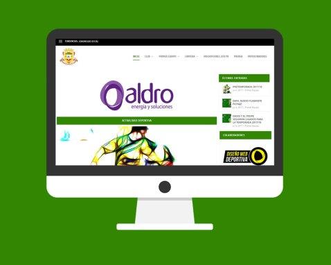 Diseño Página Web Deportiva C.D. Tropezón