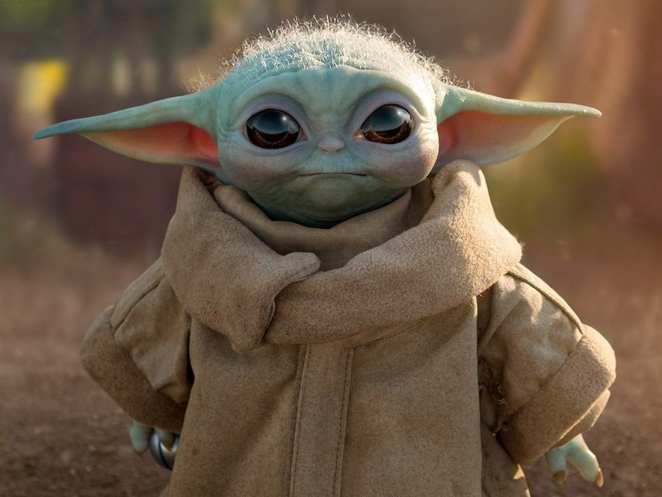 Lifelike Baby Yoda Toy
