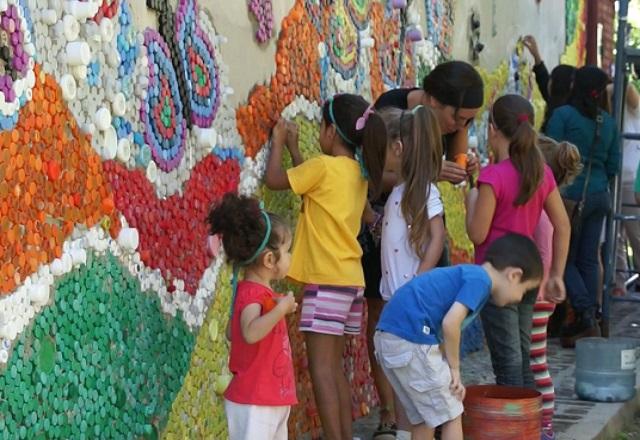 Mural en la Ciudad de los Niños de Rosario