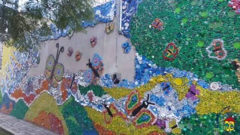 Proceso de trabajo en el Mural de la Ciudad de los niños en Rosario