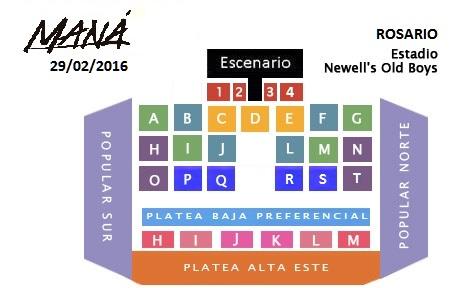 Precio entradas Mana en Rosario 2016