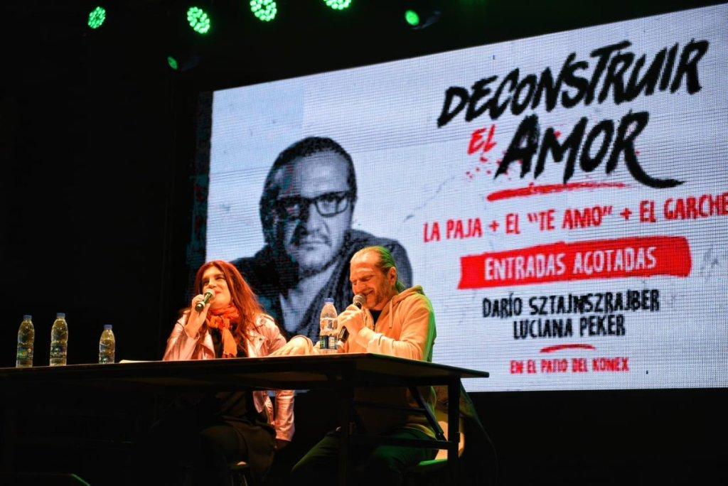 Luciana Peker y Darío Sztajnszrajber en Rosario