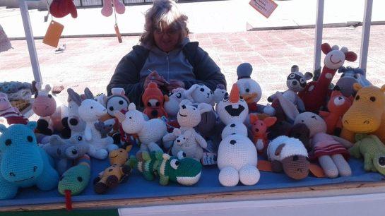 Feria en la plaza Montenegro