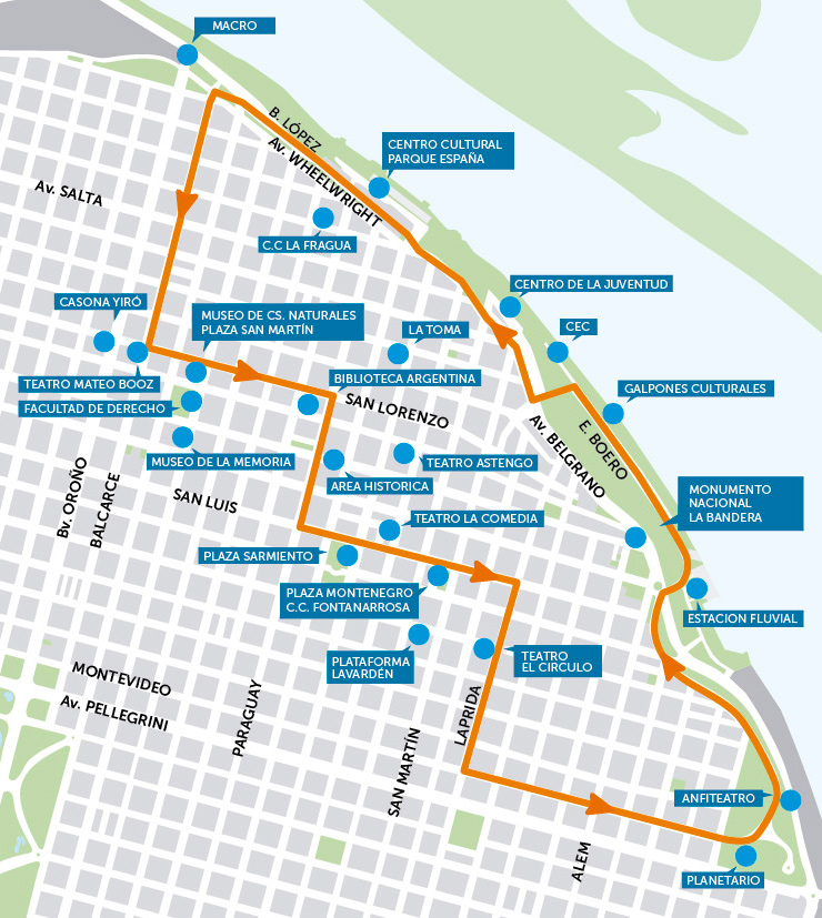 Ronda Cultural, el bus turístico de Rosario