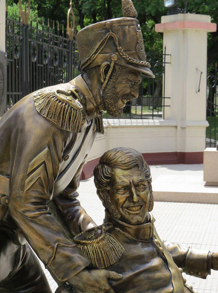 Granaderos que sacrificaron sus vidas a la patria. Crédito: Instituto Nacional Sanmartiniano