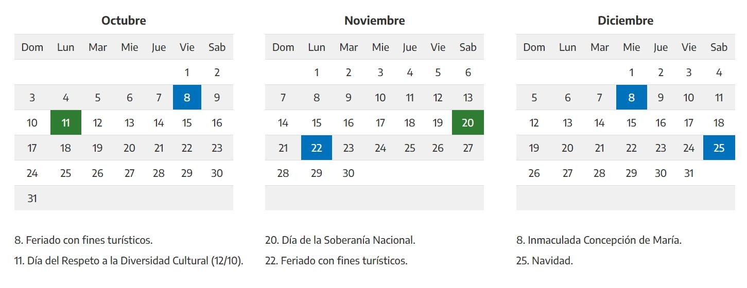 Octubre 2021 calendario