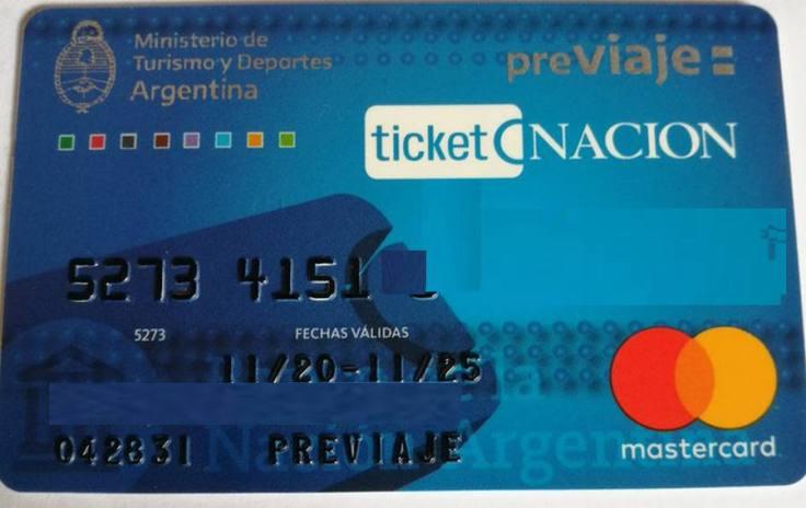 Tarjeta PreViaje Banco Nación