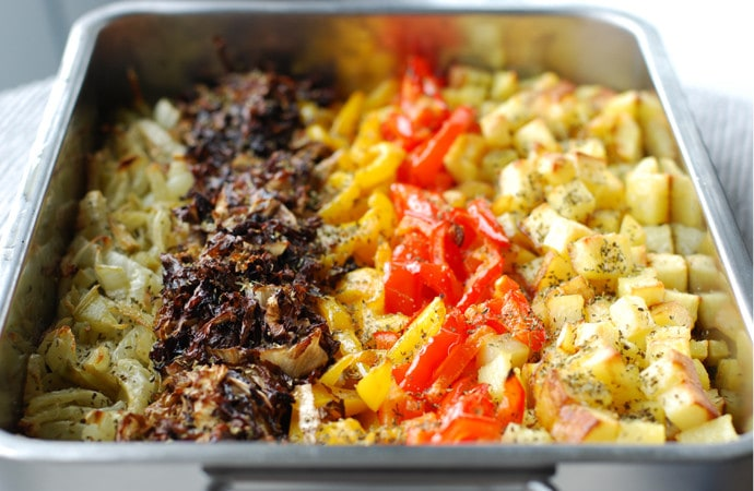 Mediterranean Roasted Vegetables Stripes