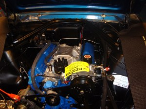 Compressor installed engine compartment