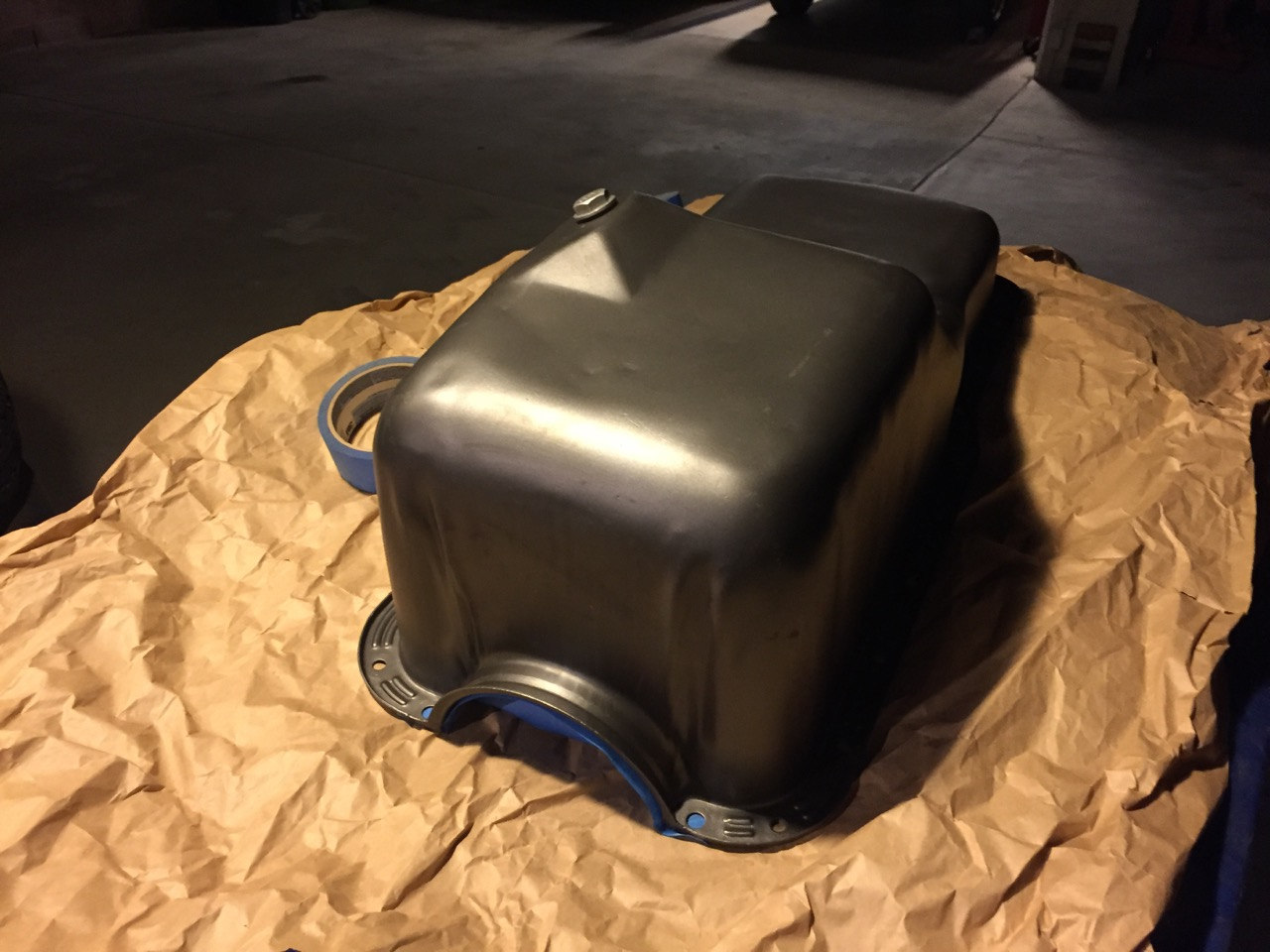 good used oil pan unpainted