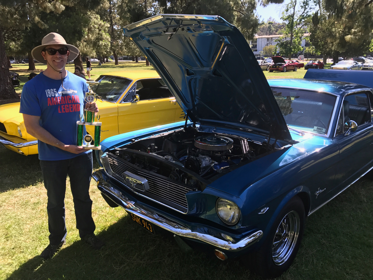 car show best engine trophy disgustang