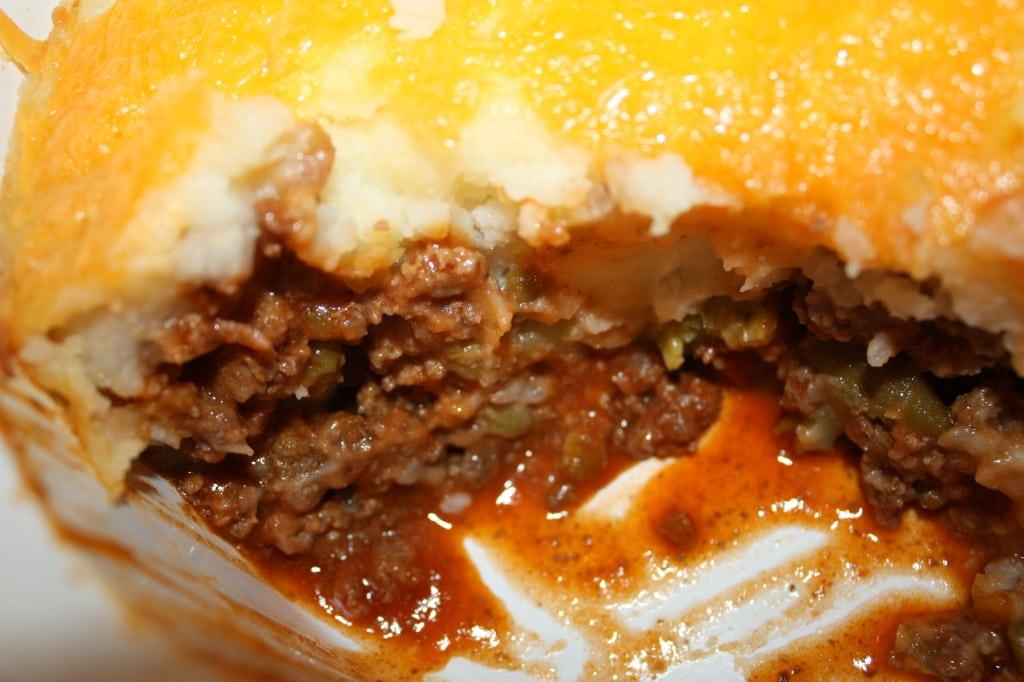 Ground Beef Pie Recipe poor mans Shepherds Pie  Dish