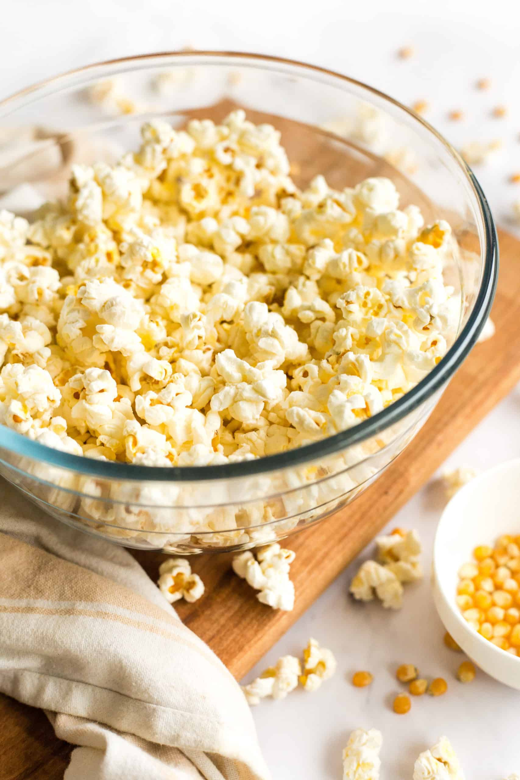 easy stovetop popcorn with microwave option
