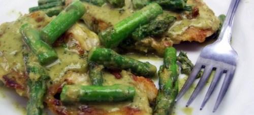 chicken asparagus cream sauce
