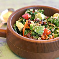 Kale, Quinoa, Black Bean Salad