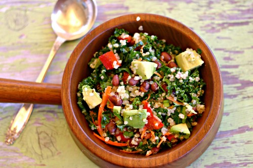 Kale Quinoa Black Bean Salad