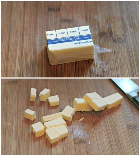 chiled cubed butter