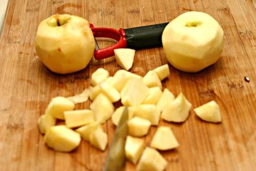 chop apples