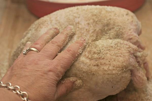 dry rubbing turkey