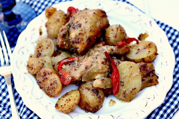 Honey mustard chicken n potatoes