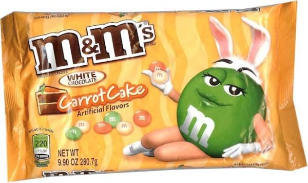 Carrot cake m & m's