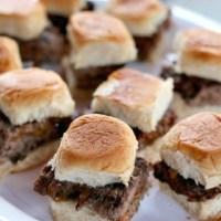 Grill Basket Stuffed Slider Burgers