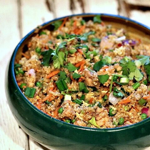 Fried rice made from quinoa
