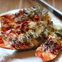 Grilled Lobster Tails with Herbed Butter